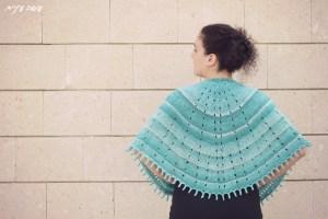 Sunray Shawl knitted by Osa Einaim    עושה עיניים - שאל סרוג בדוגמת Sunray Shawl