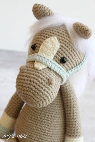 עושה עיניים - בובת סוס סרוגה    Osa Einaim - Horse Piem amigurumi