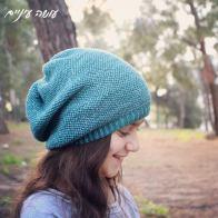 עושה עיניים - כובע סרוג בדוגמת אריגה || OsaEinaim - Crochet slouch woven beanie