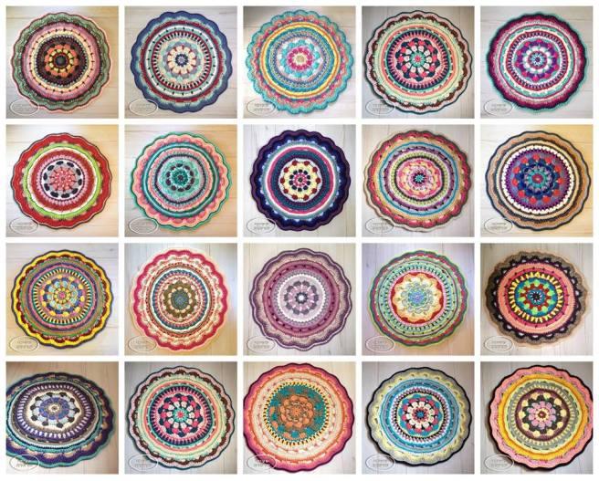 פרוייקט שטיחי שרשרת לתרומה - Crochet t-shirt yarn chain rugs project