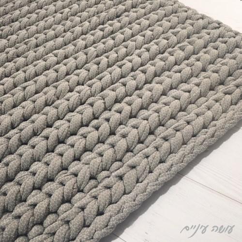 עושה עיניים - שטיח טריקו סרוג בעיניים מלופפות || Osa Einaim - t-shirt yarn crochet rug