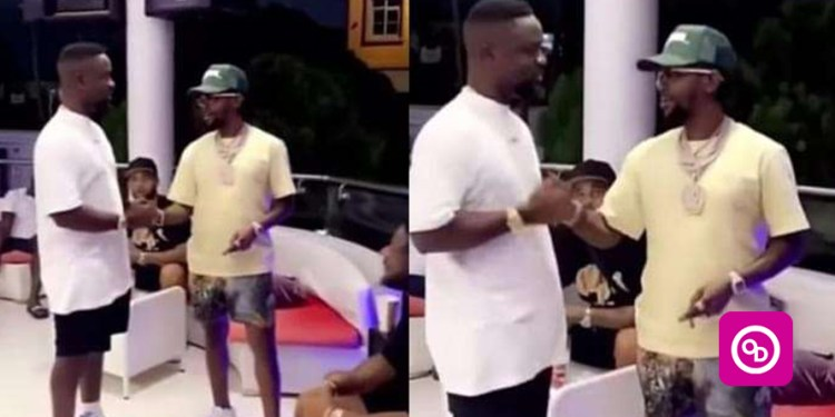 (Video) Watch Sarkodie And Popcaan link-up To Talk Business