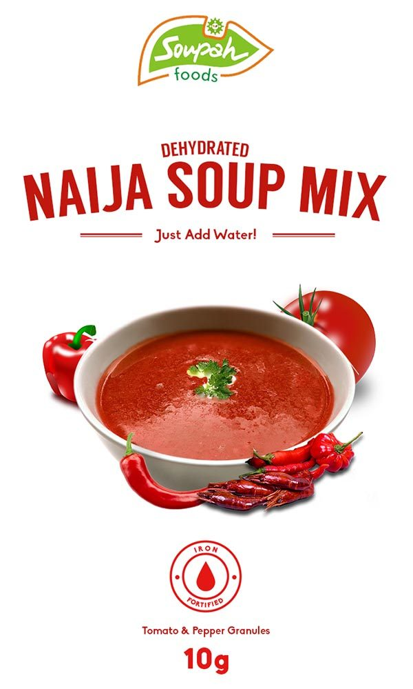 package design for soupah naija soup mix