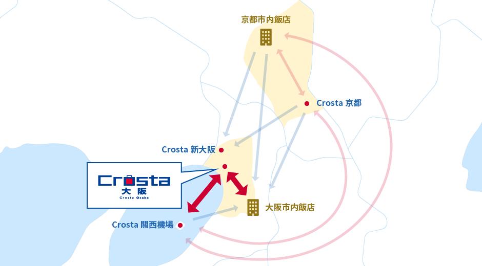 關於Crosta | JR大阪站行李寄送服務 Crosta大阪