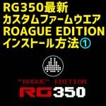 RG350の最新カスタムファームウエア CFW ROAGUE EDITIONのインストール方法(1)事前知識
