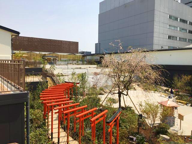 空庭温泉 OSAKA BAY TOWER,天空庭園,赤い鳥居,