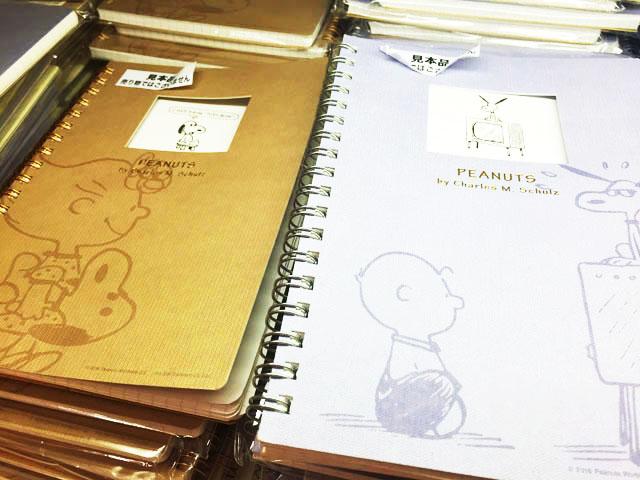 阪急うめだスヌーピーフェスティバル2016で販売しているノート