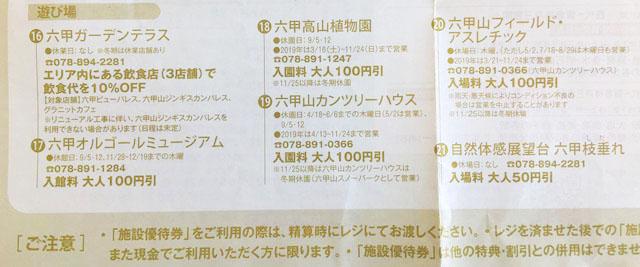 有馬六甲周遊1dayパス,阪急,六甲山でお得に利用できる施設の説明,