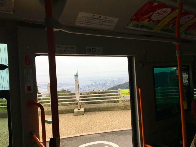 有馬六甲周遊1dayパス,六甲山上バスの乗り場からの景色,