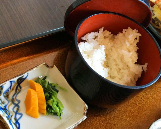 あくら御膳,ご飯とお漬物,ひいなの湯,加太,淡島,