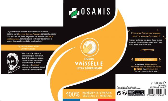 OSANIS Liquide vaisselle origine végétale et biodégradable