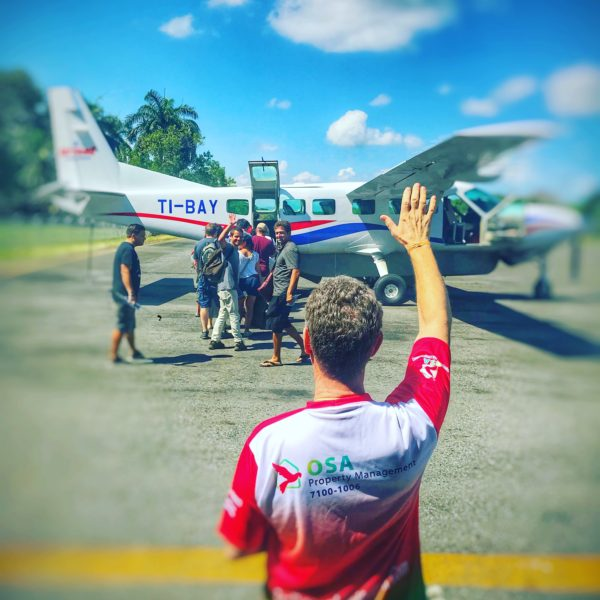 Our Costa Rican Architect is heading back home via Sansa Airlines