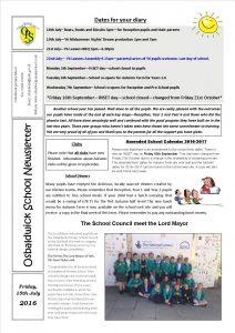 Newsletter 15.07.16