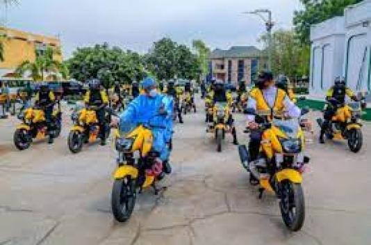 Ganduje rides power bike, inaugurates 25 to control traffic