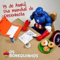 Homenagem ao dia mundial do Desenhista. Pra quem não sabe, Steve Rogers, o Capitão América é um ótimo desenhista.