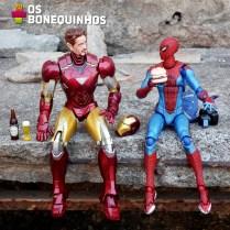 """Aranha: """"Sabe, Stark, a as vezes a gente precisa descontrair."""""""