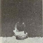 Um pedaço do pote, retirado da Serra do Goití, ainda dentro da gruta - Palmeira dos Índios.