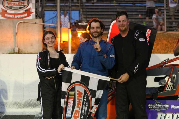 OSCAAR Pro Sprint Series Top 3 at Sunset Speedway