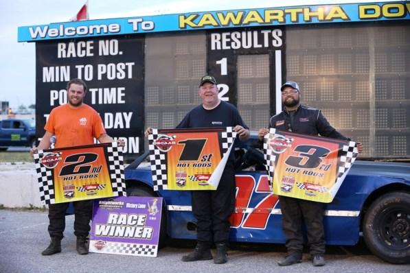 OSCAAR Hot Rod Series Top 3 at Kawartha Speedway
