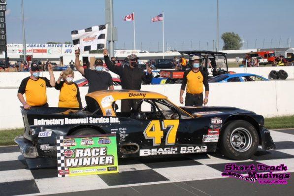 Steve Book Wins First Race at Jukasa Motor Speedway in 2020