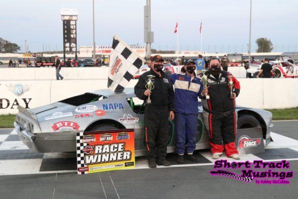 OSCAAR Hot Rod Series Top Three from Jukasa Motor Speedway.