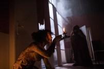 Les Bâtards Dorés - 100 millions qui tombent, filage au Théâtre de la Cité (TNT), Toulouse. Création lumière Lucien Valle. Lisa Hours & Manuel Severi.