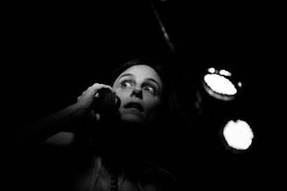 La Compagnia Dell'Improvviso - No Woman's Land, filage au Théâtre Le Comedia, Paris. Mise en Scène Luca Franceschi. Nora Alberdi.
