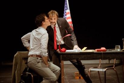 No Limit, Répétitions au Grand Palais, Paris. Mise en scène Robin Goupil assisté par Arthur Cordier. Thomas Gendronneau & Théo Kerfridin.