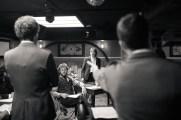 No Limit, répétitions au Cielito Lindo. Mise en scène Robin Goupil assisté par Arthur Cordier. Laurène Thomas, Augustin Passard, Martin Karmann & Tom Wozniczka.