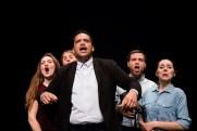 Le Royal Velours - Je m'en vais mais l'État demeure, filage à La Scala, Paris. Mise en Scène Hugues Duchêne. Laurent Robert, Théo Comby-Lemaitre, Vanessa Bile-Audouard, Marianna Granci & Pénélope Avril.