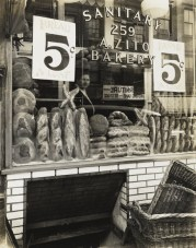 Berenice Abbott, Zito's Bakery, 259 Bleecker Street, 1937, from Changing New York, 1935–39, gelatin silver print. The Jewish Museum