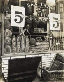 Berenice Abbott, Zito's Bakery, 259 Bleecker Street, 1937, from Changing New York, 1935–39, gelatin silver print. The Jewish Museum