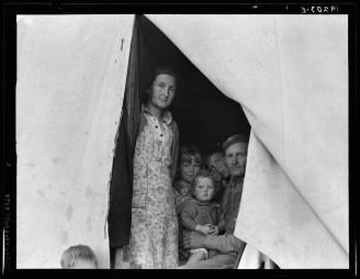 """Brawley, Imperial Valley, In Farm Security Administration (FSA) migratory labor camp. "" Dorothea Lange"