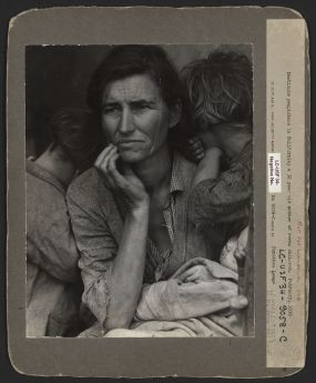 Dorothea Lange Destitute pea pickers in California. Mother of seven children. Age thirty-two. Nipomo, California pre conservation