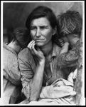 Dorothea Lange Migrant Mother Unretouched negative Destitute pea pickers in California Mother of seven children Age thirty-two Nipomo California