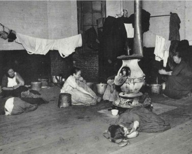 Jacob Riis Women in the West 47th Street Station Accommodation c1880-90s