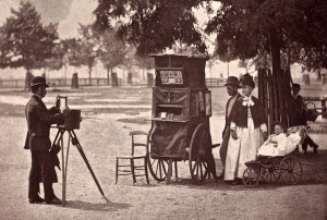John Tomson.  Photography on the common waiting for a hire. (ca. 1873)