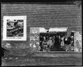 Show poster in Alabama town Walker Evans