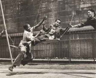 Walter Rosenblum. Three Boys on Swings, Pitt Street, New York, 1938