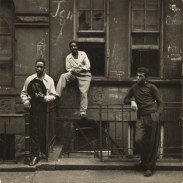 Walter Rosenblum. Three Men on a Stoop, East Harlem, New York, 1952