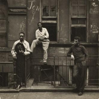 Walter Rosenblum. Three Men on a Stoop, East Harlem, New York, 1952