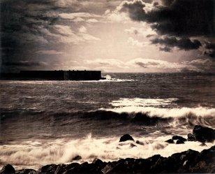 Gustave Le Gray, Seashore and Clouds, Sete, albumen print 1857
