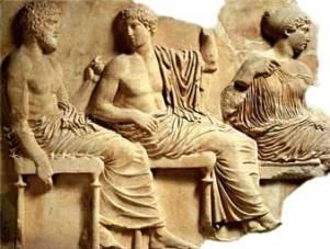 Relieve de Fidias en El Partenón.