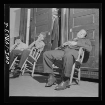Washington, D.C. Firemen taking a nap in engine house number four. 1943