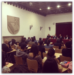 Aspectos de la presentación del libro. Foto cortesía de Gabriel García