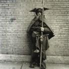 Moondog at his regular post, NYC 1963
