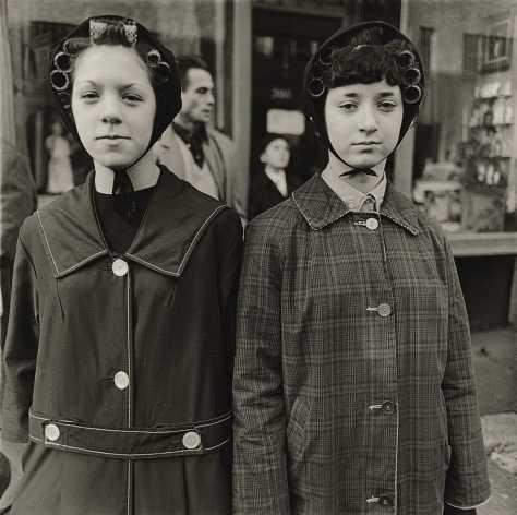 Two Girls in Curlers, N.Y.C., 1963
