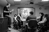 Markus Hartel con estudiantes de fotografía en la Universidad Panamericana (Cd. de México)