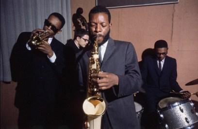 Don Cherry, Charlie Haden, Ornette Coleman, Ed Blackwell, 1960355-760x497