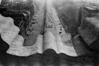 FRANCE. Paris. Place de l'Etoile. Champs-Elysées. View from the Arch of Triumph. 1959.